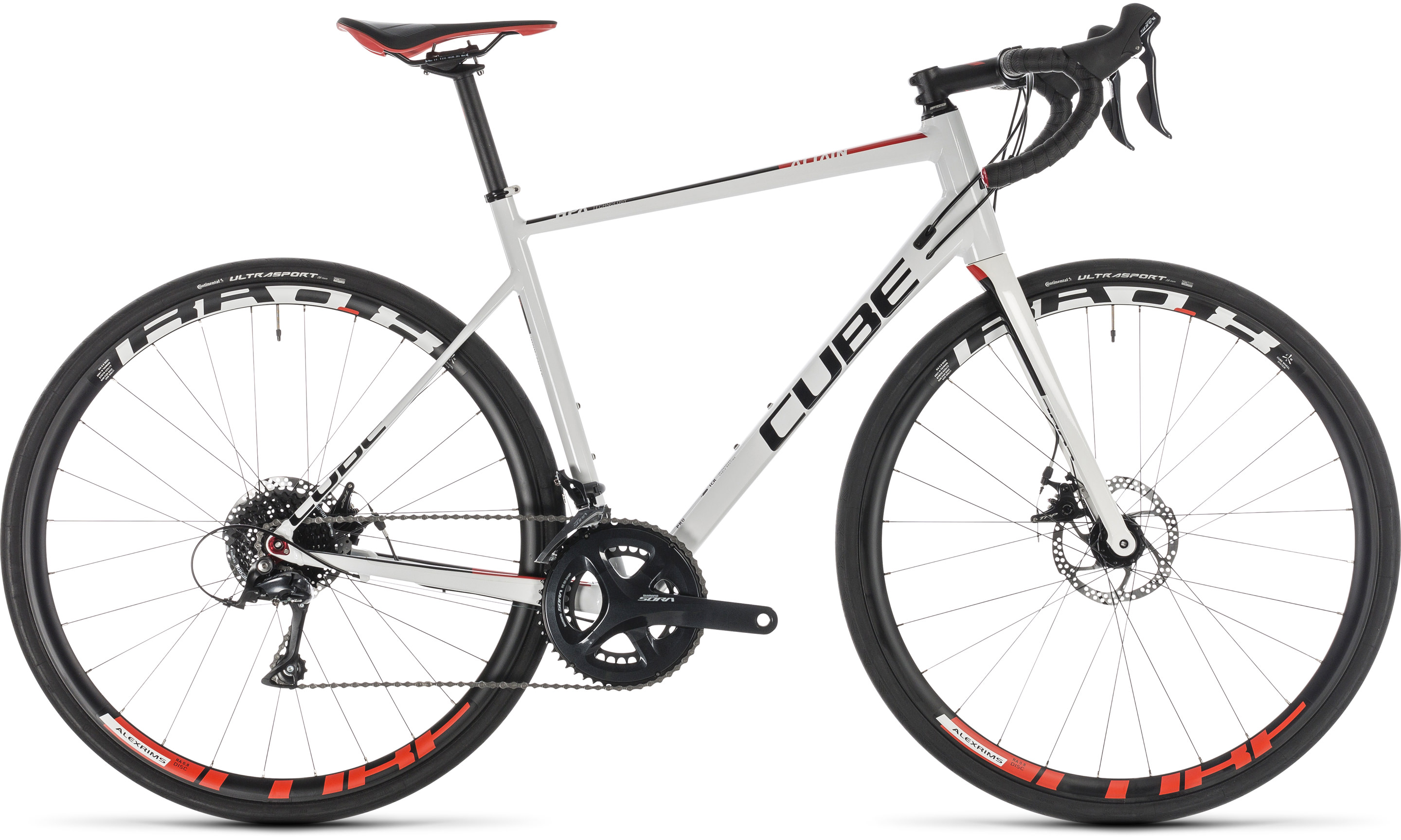 Cube Attain Pro Disc white´n´red | Vélo Station