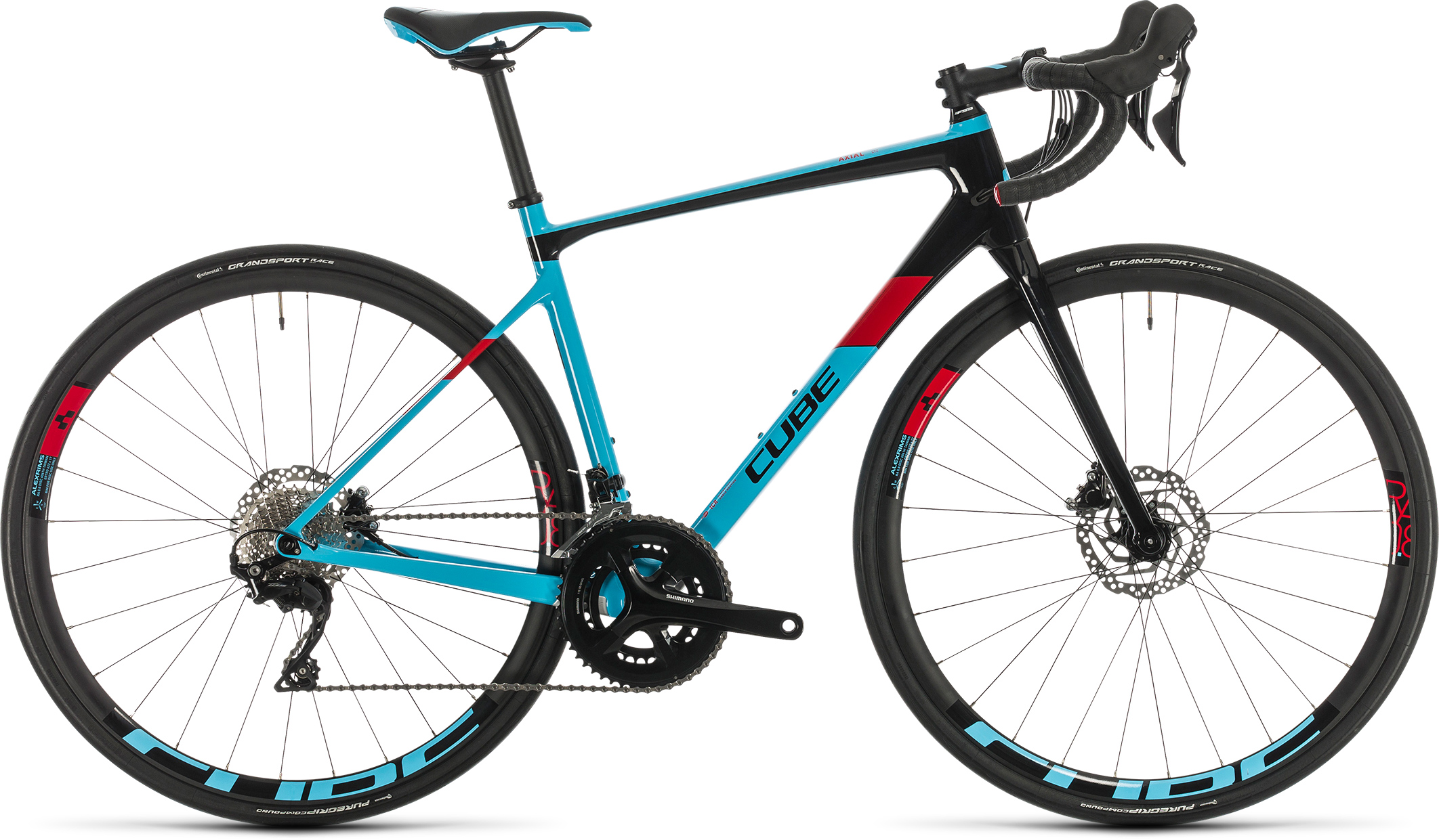 Axial WS GTC Pro lightblue´n´red | Bouticycle