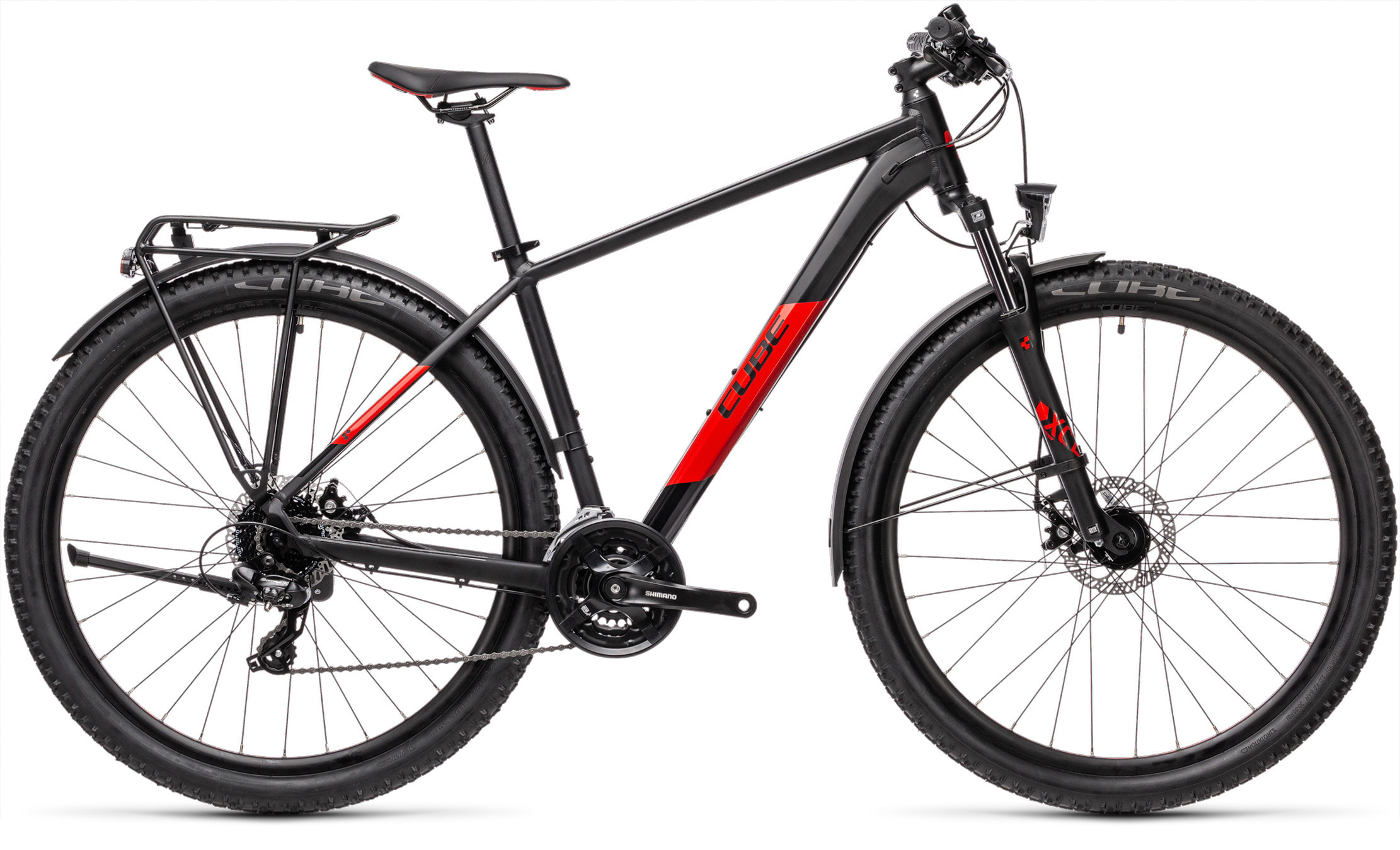 Aim Allroad black´n´red | Vélo Station