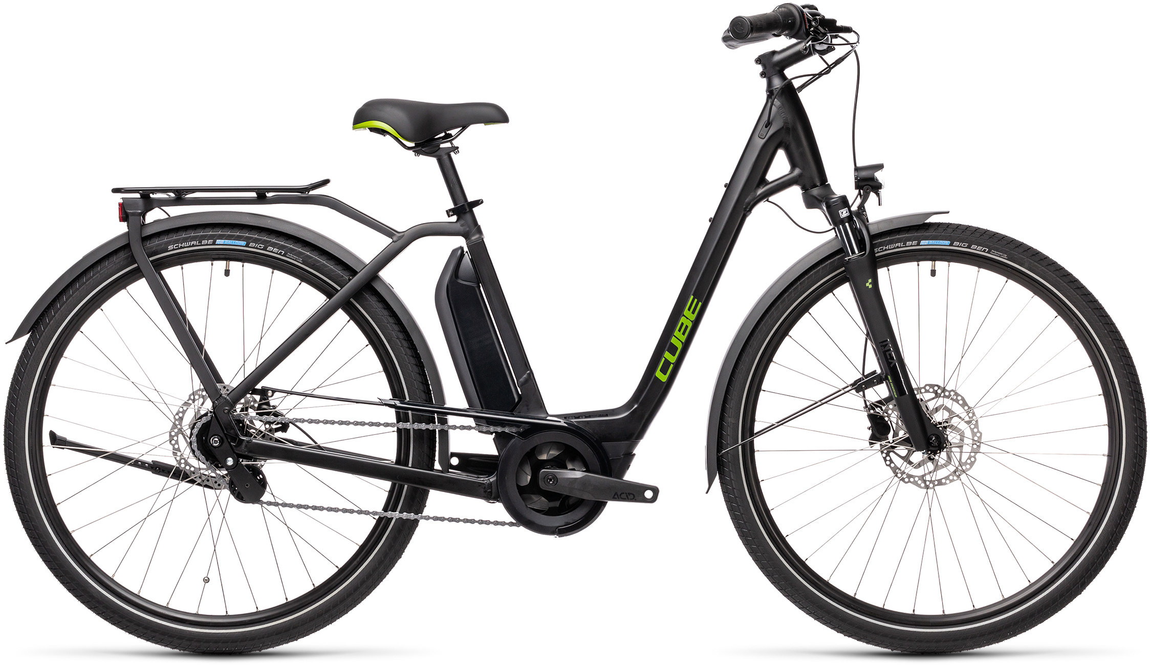 Town Hybrid ONE 400 black´n´green | Bouticycle