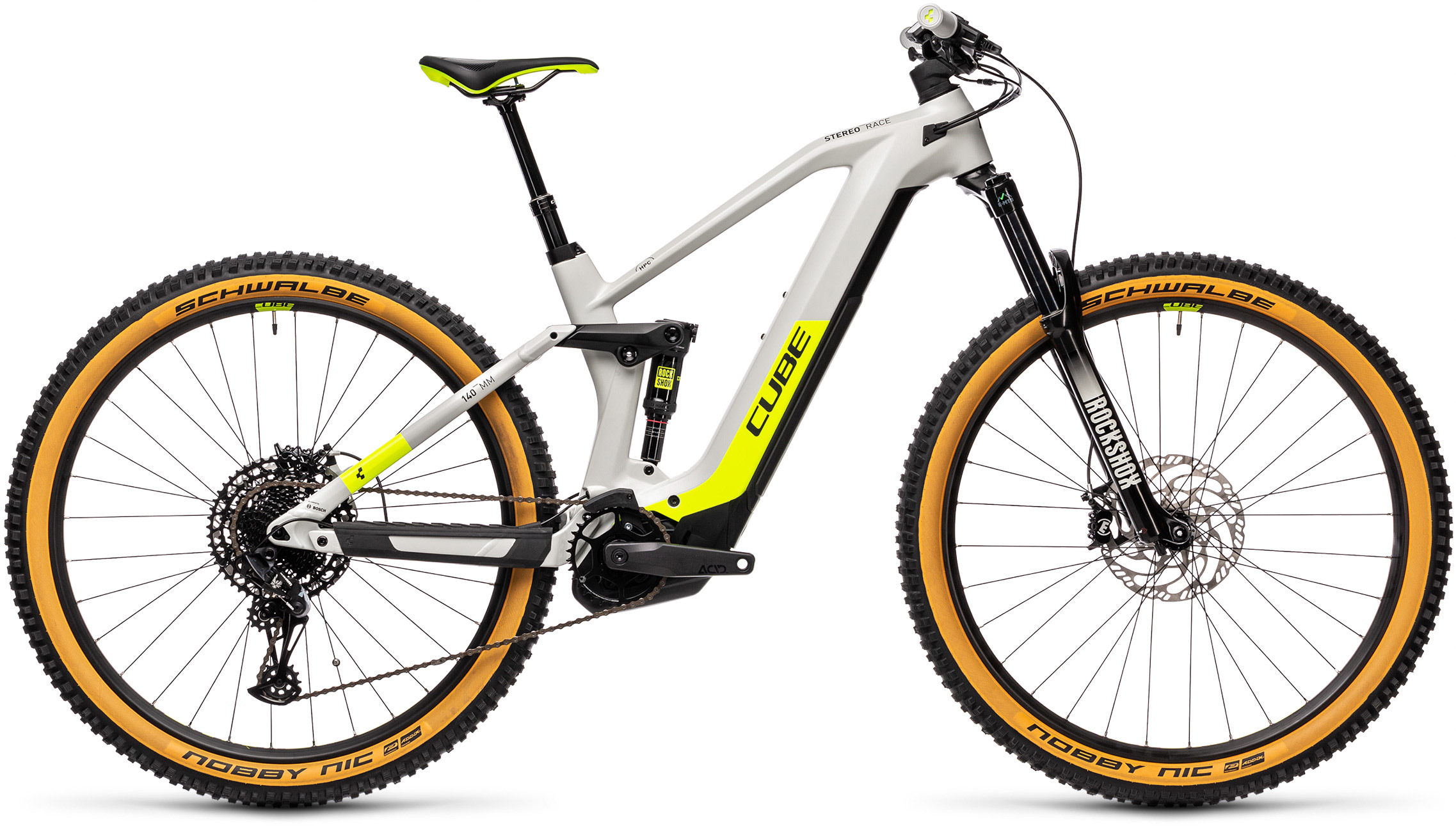 Stereo Hybrid 140 HPC Race 625 grey´n´yellow | Bouticycle