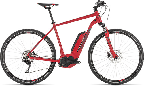 Cube Cross Hybrid Pro 500 red´n´grey - 2019