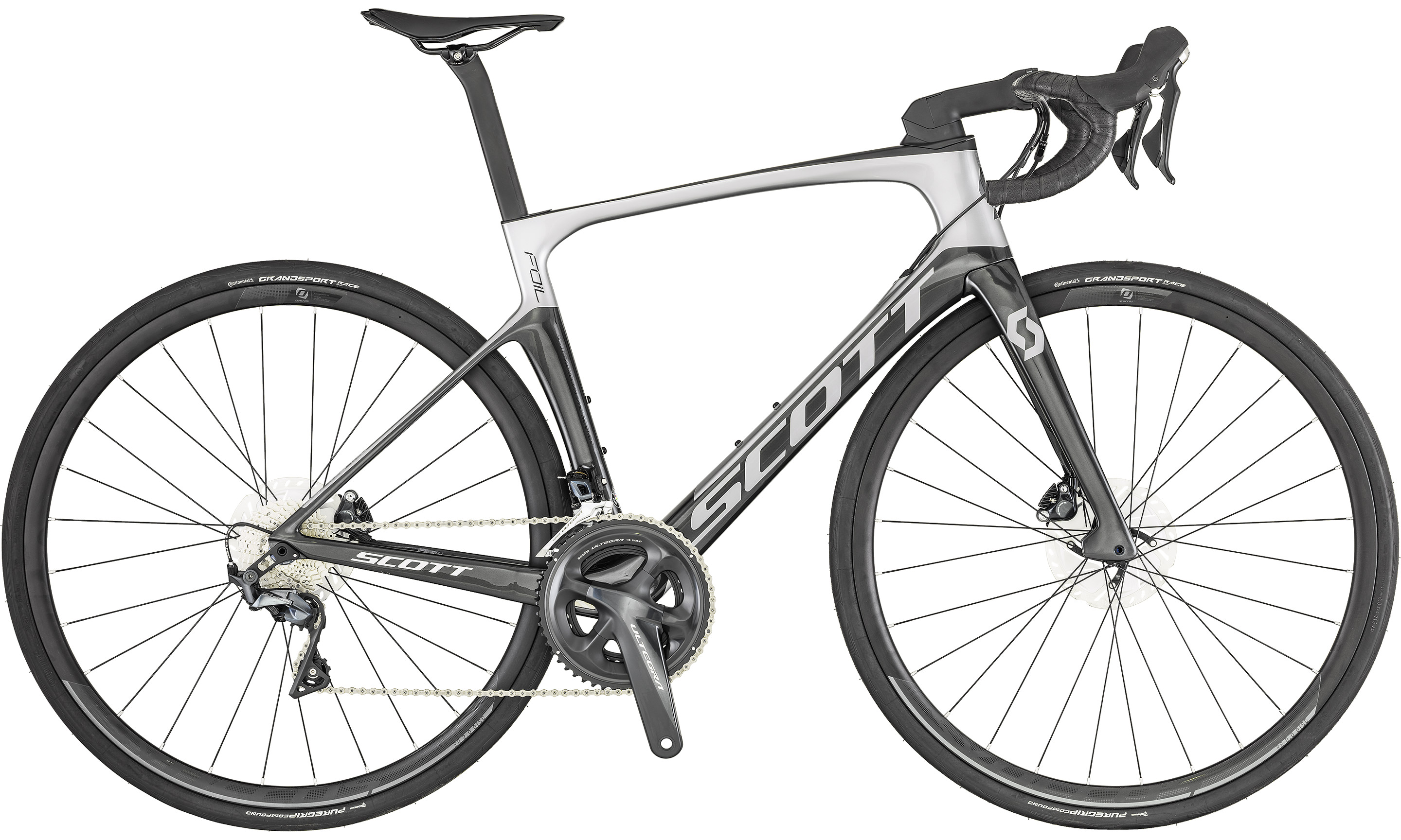 Foil 20 disc silver/black  | Culture Vélo